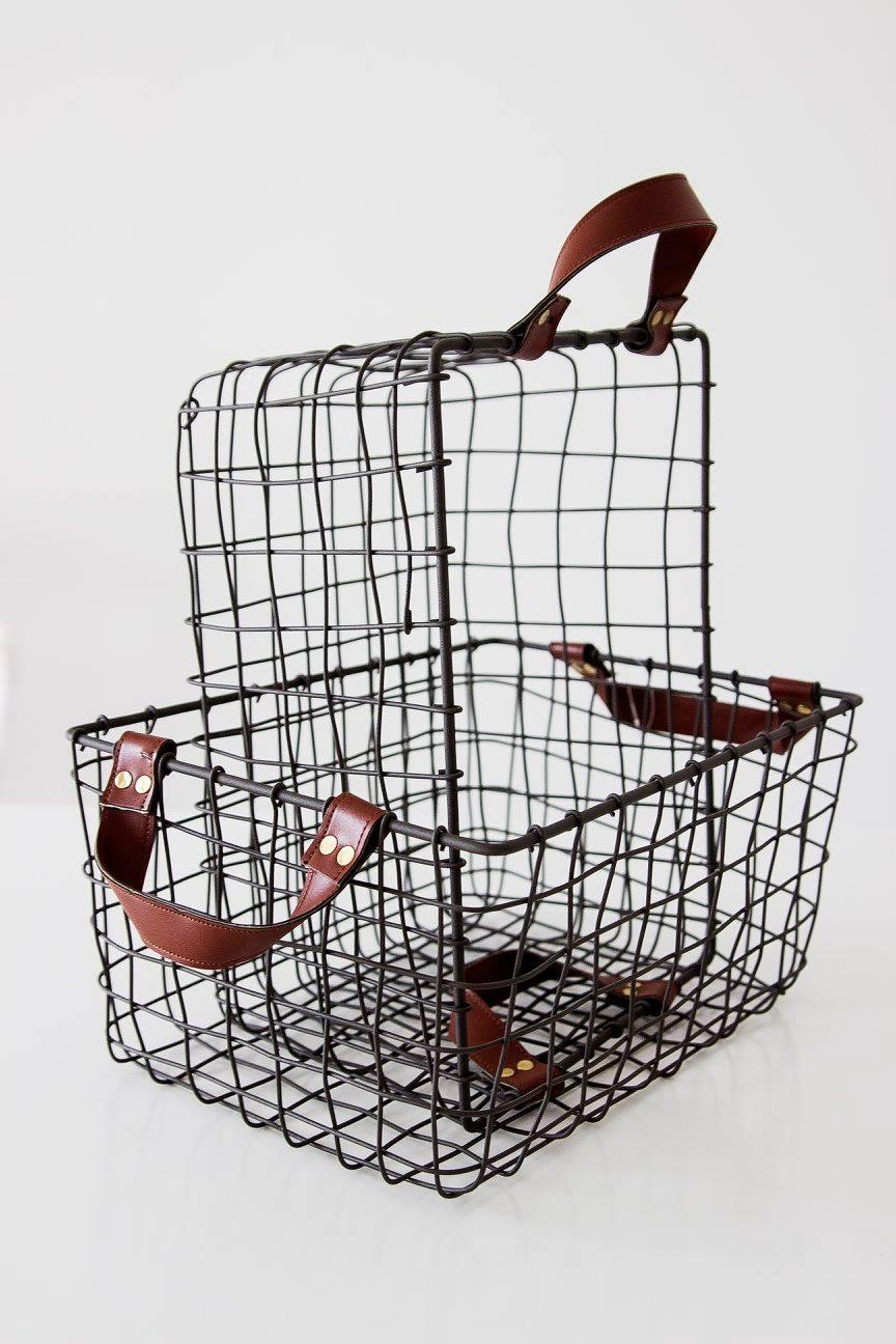Kosz Z Uszami Metalowy Na Drobiazgi Skandynawski Styl